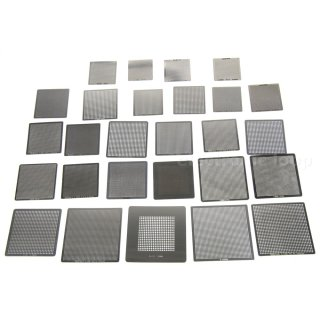 Universal BGA Raballing Stencil Set 27 pieces direct heating
