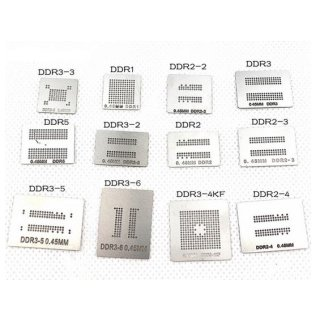 DDR1 DDR2 DDR2-2 DDR2-3 DDR3 DDR5 RAM BGA Reballing Stencil Set